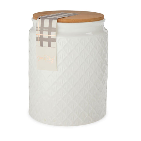 Pantry Scallop Textured Ceramic Medium Canister