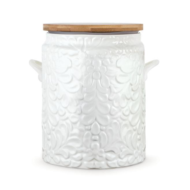 Pantry Textured Ceramic Cookie Jar-Home - Kitchen + Bathroom - Canisters + Jars-TWINE-Peccadilly