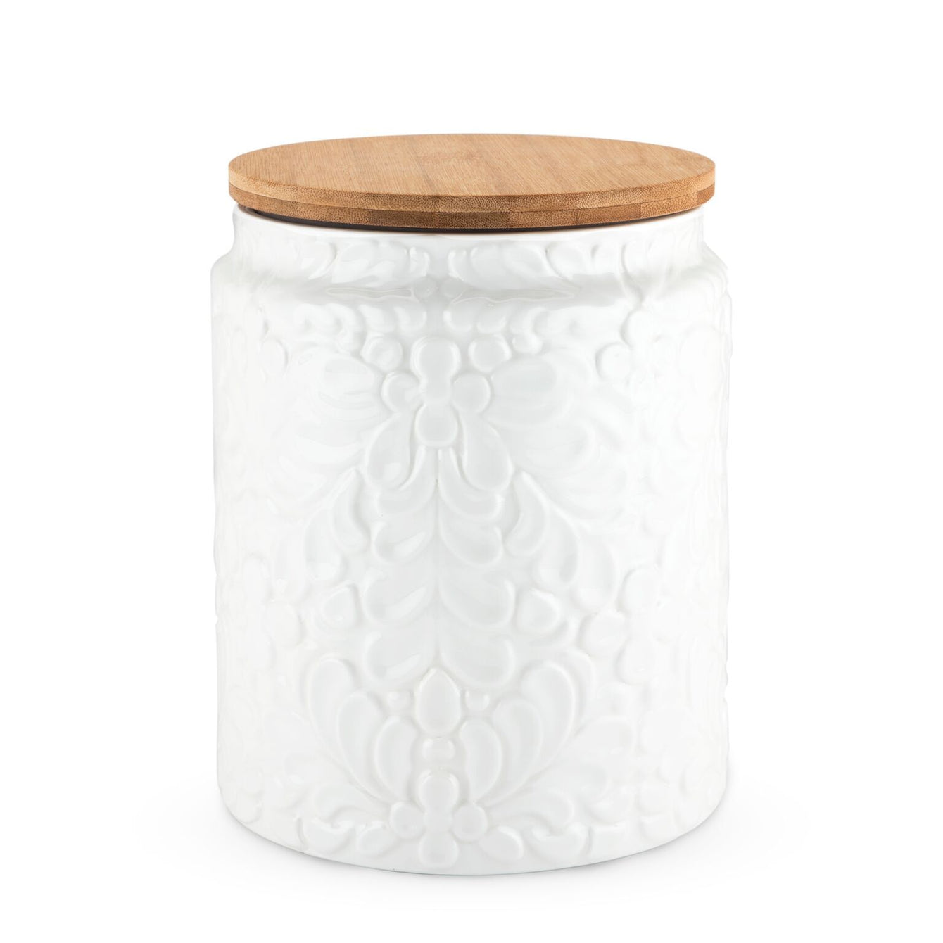 Pantry Textured Ceramic Large Canister-Home - Kitchen + Bathroom - Canisters + Jars-TWINE-Peccadilly