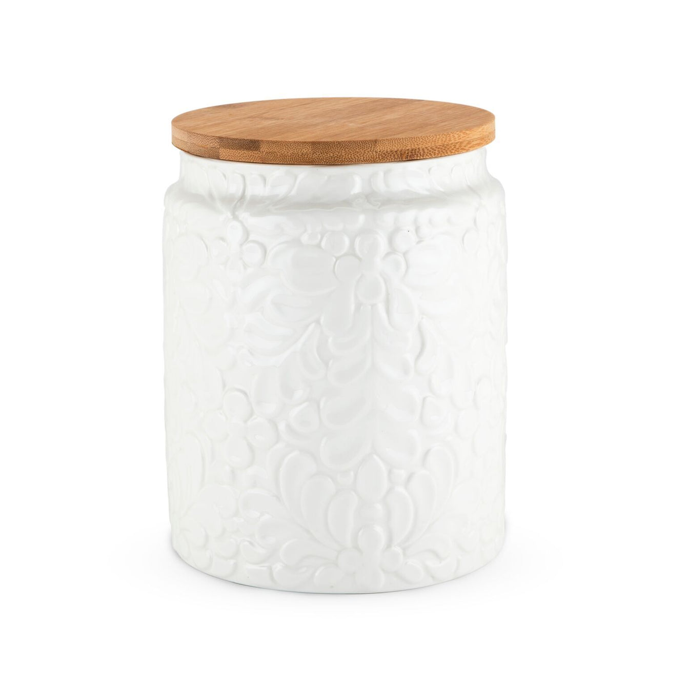 Pantry Textured Ceramic Medium Canister-TWINE-Peccadilly