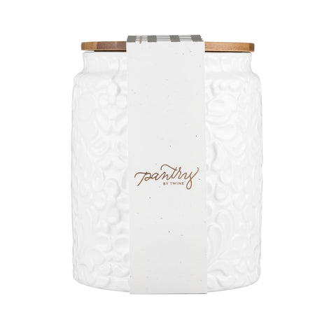 Pantry Textured Ceramic Small Canister
