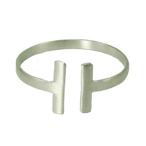 Perpendicular Cuff in Silver