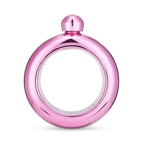 Pink Plastic Bangle Flask-BLUSH-Peccadilly
