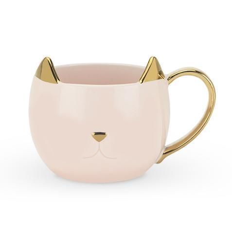 Chloe Cat Ear Ceramic Tea and Coffee Mugs-Home - Coffee + Tea - Mugs-PINKY UP-Light Pink-Peccadilly