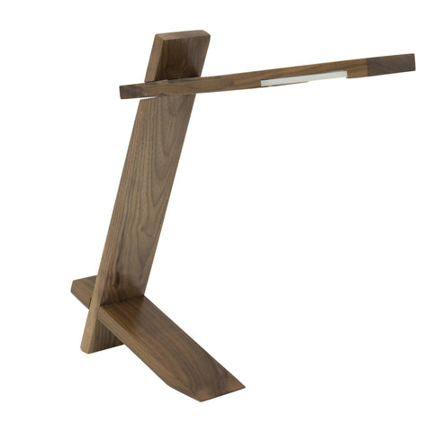 Plank Contemporary Desk Lamp in Walnut