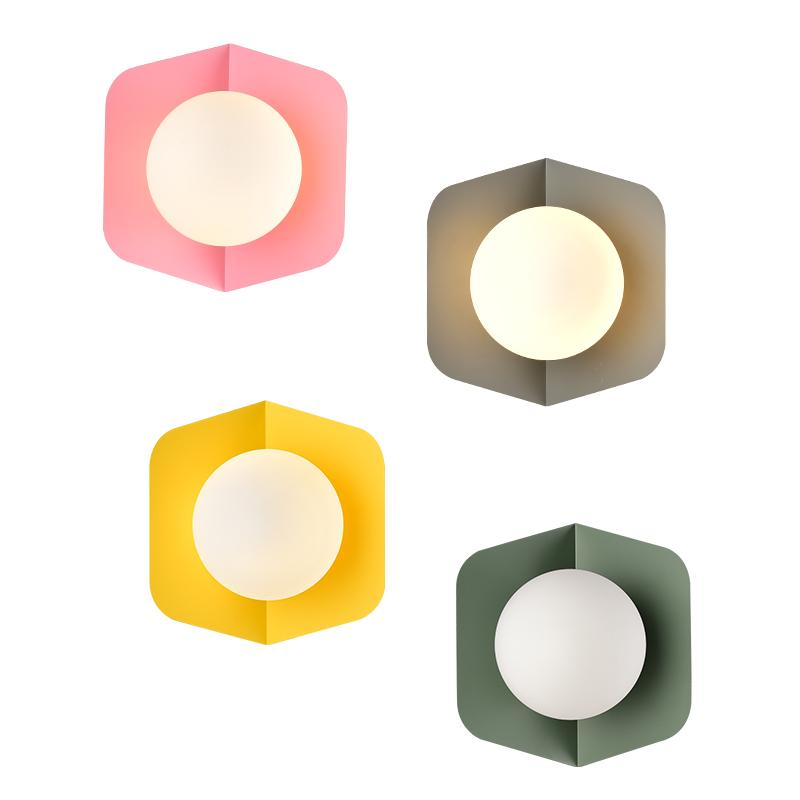 Post-Modern Macaron Wall Sconce-home - lighting - wall lights-TOOLERY-Green-warm white 3000K-Peccadilly