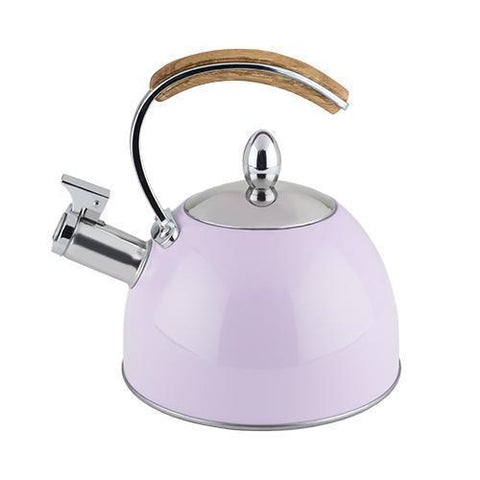 Presley Stainless Steel and Wood Tea Kettle