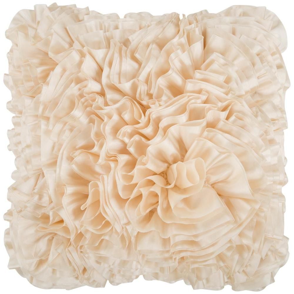 Prom Ruffle Texture Square Throw Pillow-Home - Accessories - Pillows-SURYA-18x18 Case Only-Butter-Peccadilly