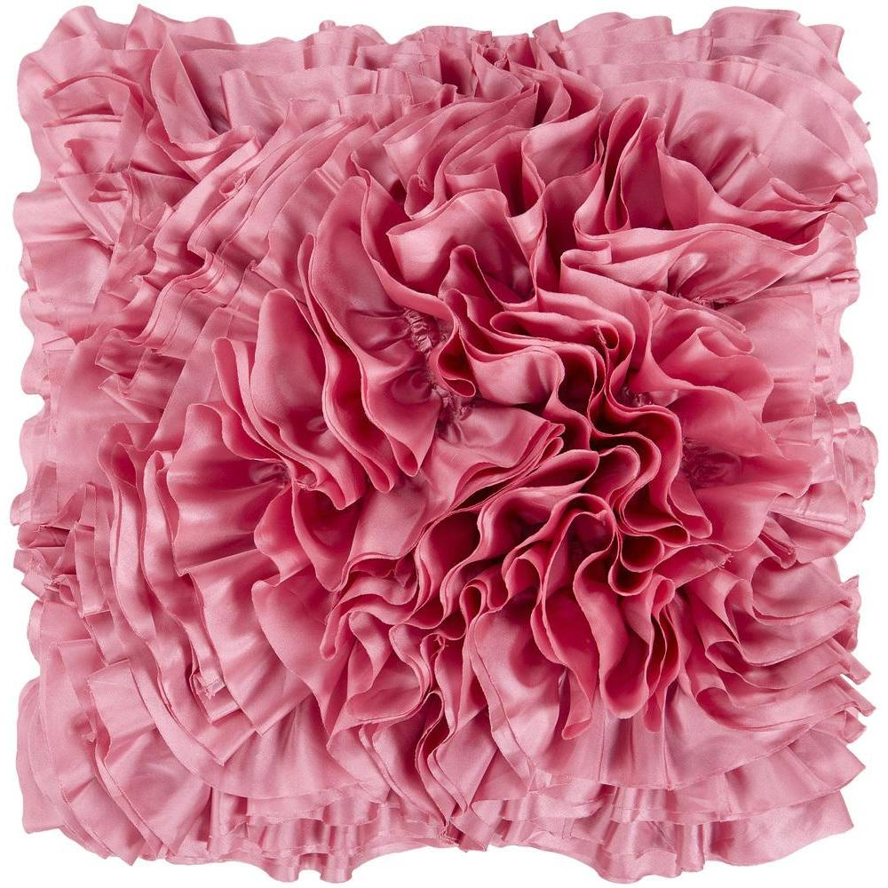 Prom Ruffle Texture Square Throw Pillow-Home - Accessories - Pillows-SURYA-18x18 Case Only-Pink-Peccadilly