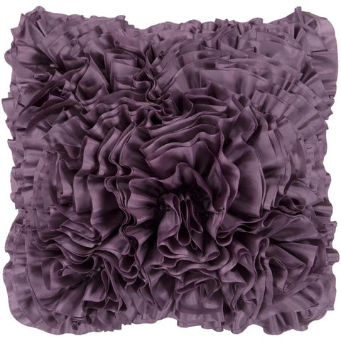 Prom Ruffle Texture Square Throw Pillow