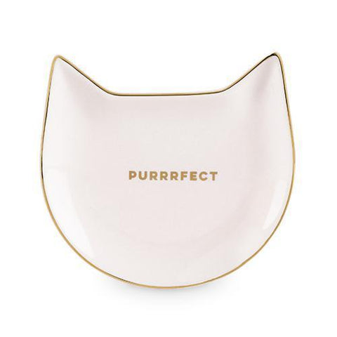 Cat Phrase Ceramic Tea Trays