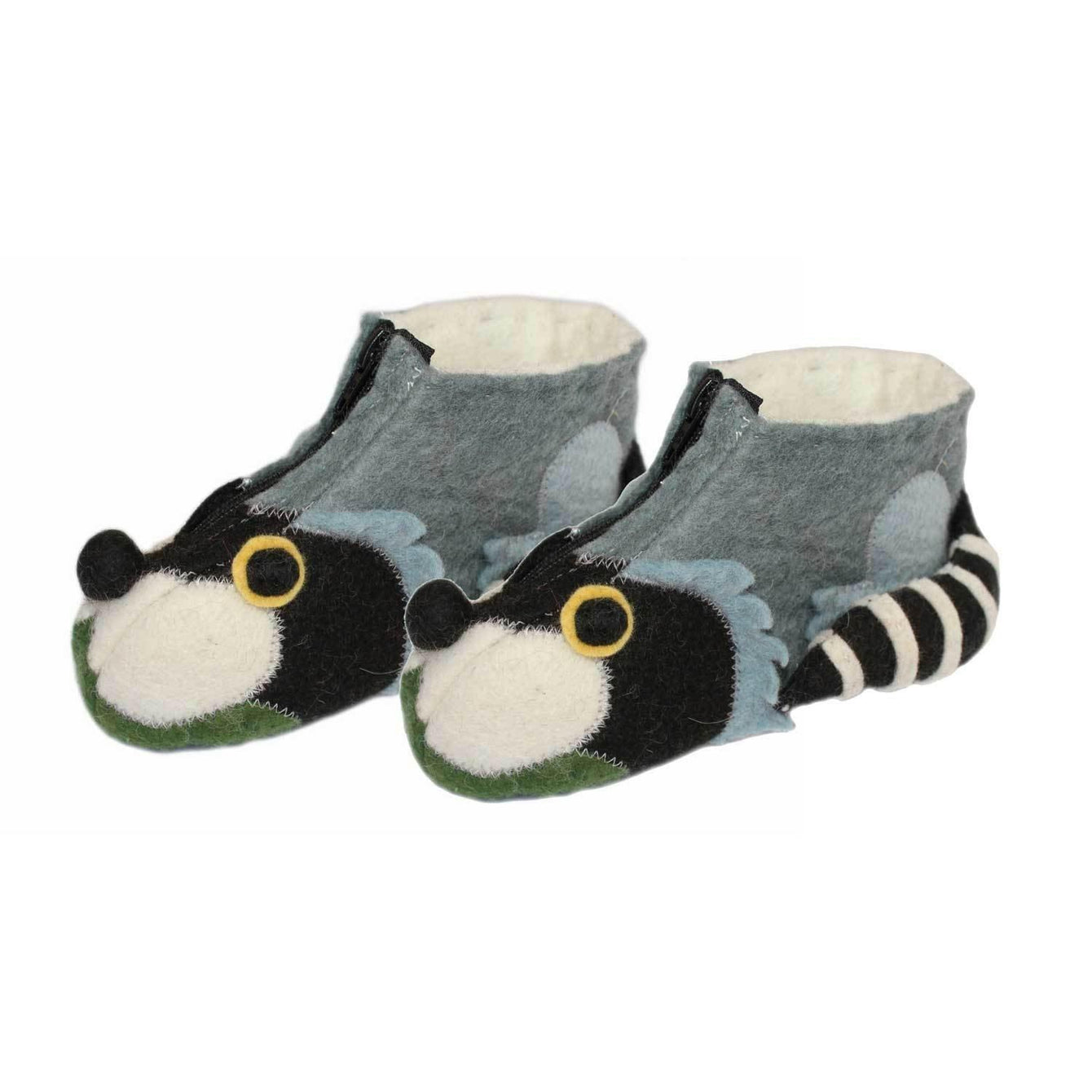 Raccoon Kid Zooties Age 4-5-Kids - Apparel - Slippers-SILK ROAD BAZAAR FAIR TRADE-Peccadilly