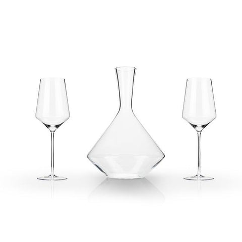 Raye Crystal Bordeaux Wine Gift Set of 3