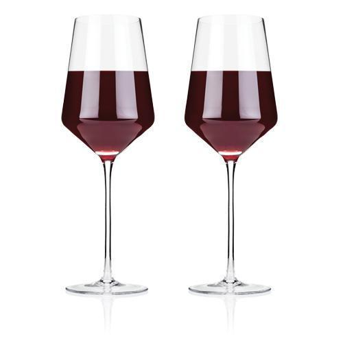 Raye Lead Free Crystal Stemware and Bar Glass Collection-Home - Entertaining - Beer Glasses Sets-VISKI-Set of 2 Bordeaux Wine Glasses-Peccadilly