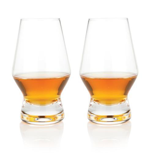 Raye Lead Free Crystal Stemware and Bar Glass Collection-Home - Entertaining - Beer Glasses Sets-VISKI-Set of 2 Scotch Glasses-Peccadilly