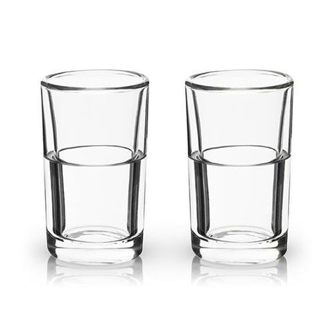 Viski Raye Double Walled Chilling Shot Glasses