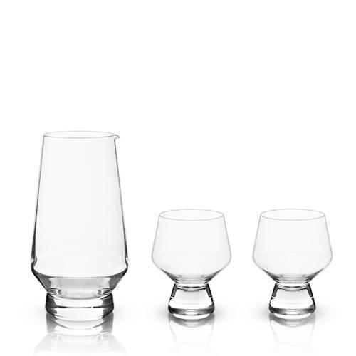 Raye Footed Daiginjo Sake Set (3-Piece Set)-Home - Entertaining - Sake Sets-VISKI-Peccadilly
