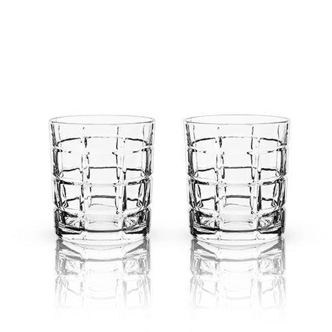 Viski Raye Highland Scotch Plaid Whiskey Tumblers
