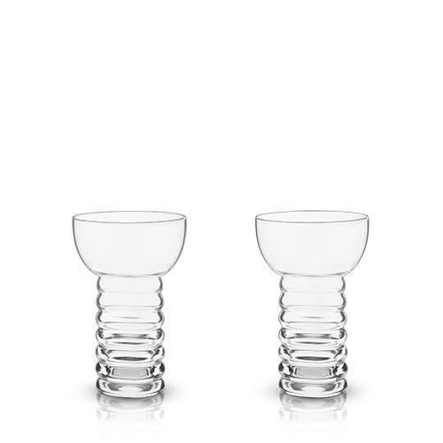 Raye Pearl Diver Cocktail Glasses (Set of 2)-Home - Entertaining - Cocktail Glasses Sets-VISKI-Peccadilly
