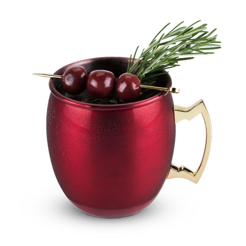 Red Holiday Moscow Mule Mug-Home - Entertaining - Cocktail Glasses - Holiday-TWINE-Peccadilly