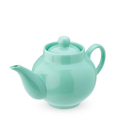 Regan Solid Color Ceramic Teapot & Infuser Sets-Home - Coffee + Tea - Teapots-PINKY UP-Light Green-Peccadilly