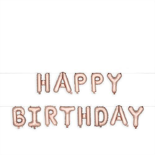 Rose Gold HAPPY BIRTHDAY Mylar Balloon-Home - Party Supplies - Party Balloons-CAKEWALK-Peccadilly