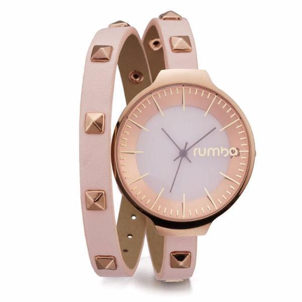 Orchard Double Wrap Studded Leather Watch-RUMBATIME-Rose Smoke-Peccadilly