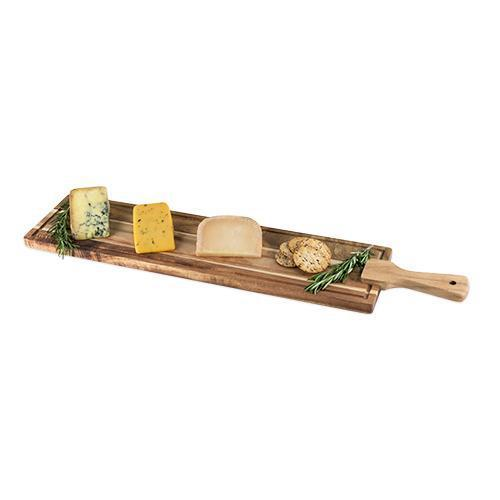 Rustic Farmhouse Acacia Wood Tapas Board-Home - Entertaining - Cheese + Appetizer Serving - Holiday-TWINE-Peccadilly