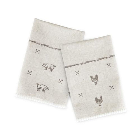 Rustic Farmhouse Linen Napkin Set
