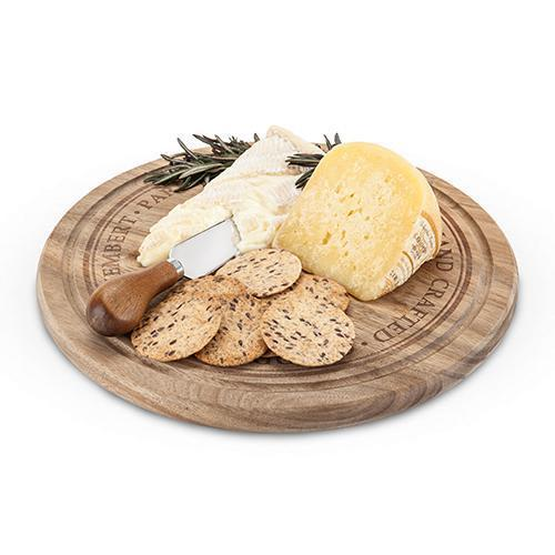 Rustic Farmhouse Rounded Cheese Board & Knife Set-Home - Entertaining - Cheese Board Gift Sets-TWINE-Peccadilly