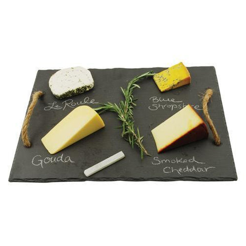 Rustic Farmhouse Slate Cheese Board with Chalk