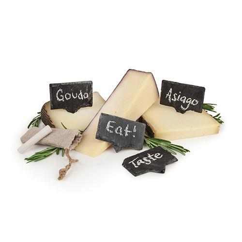 Rustic Farmhouse Slate Cheese Markers-Home - Entertaining - Cheese Markers-TWINE-Peccadilly