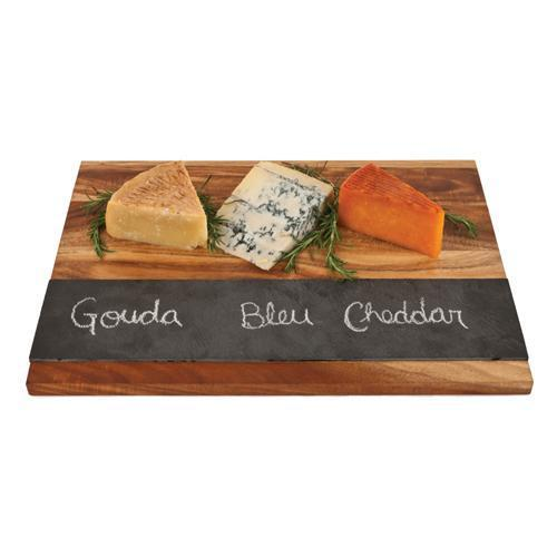 Rustic Farmhouse Wood with Slate Board-Home - Entertaining - Cheese + Appetizer Serving-TWINE-Peccadilly