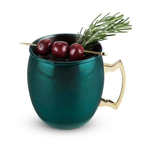 Rustic Holiday Emerald Moscow Mule Mug