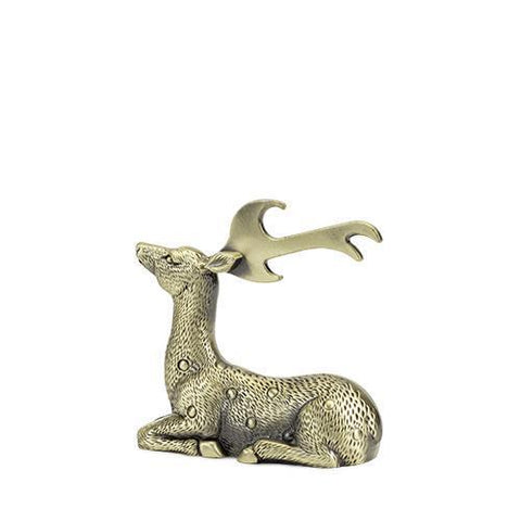 Rustic Holiday Gilded Deer Bottle Opener
