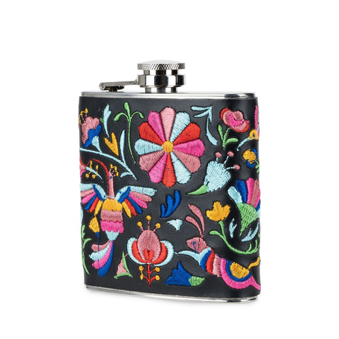 Salina Embroidered Flask