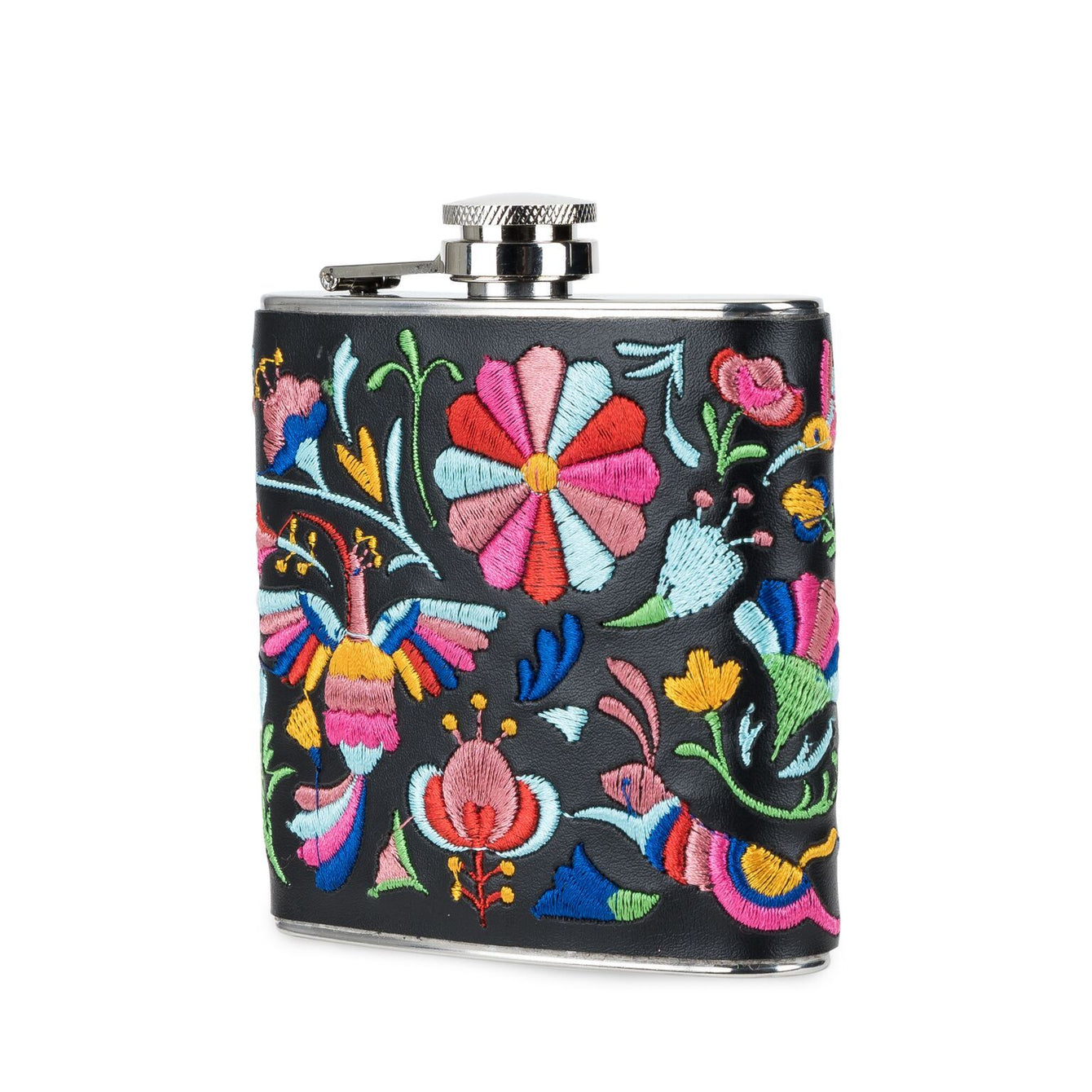 Salina Embroidered Flask-Home - Travel + Outdoors - Flasks + Growlers-BLUSH-Peccadilly