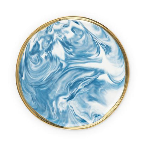 Seaside Marbled Ceramic Plate