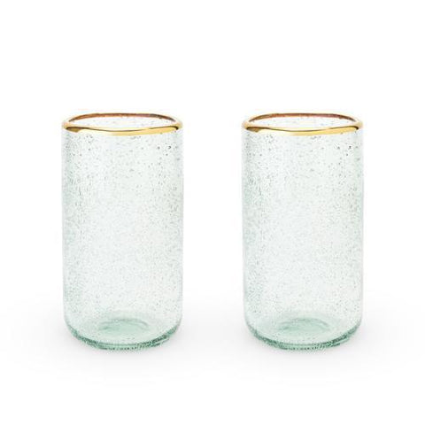 Seaside Sea Foam Bubble Glass Tumbler Set