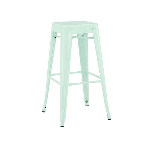 SET OF 4 Dreux Matte Mint Steel Barstool