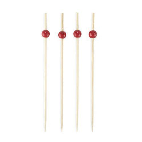Simply Baked Long Bamboo Cocktail Picks - 30 Ct in Red