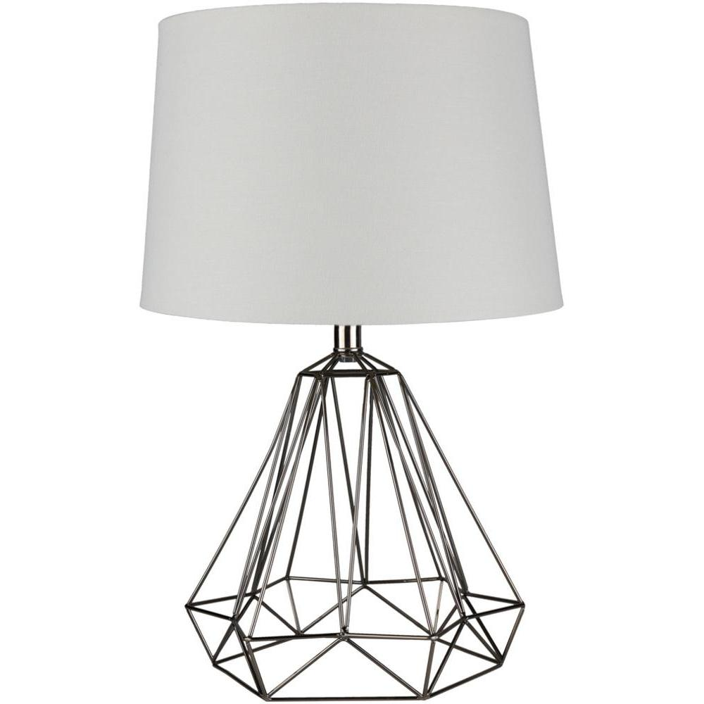 Steele Metal Caged Table Lamp-Home - Lighting - Table Lamps-SURYA-Black-Peccadilly