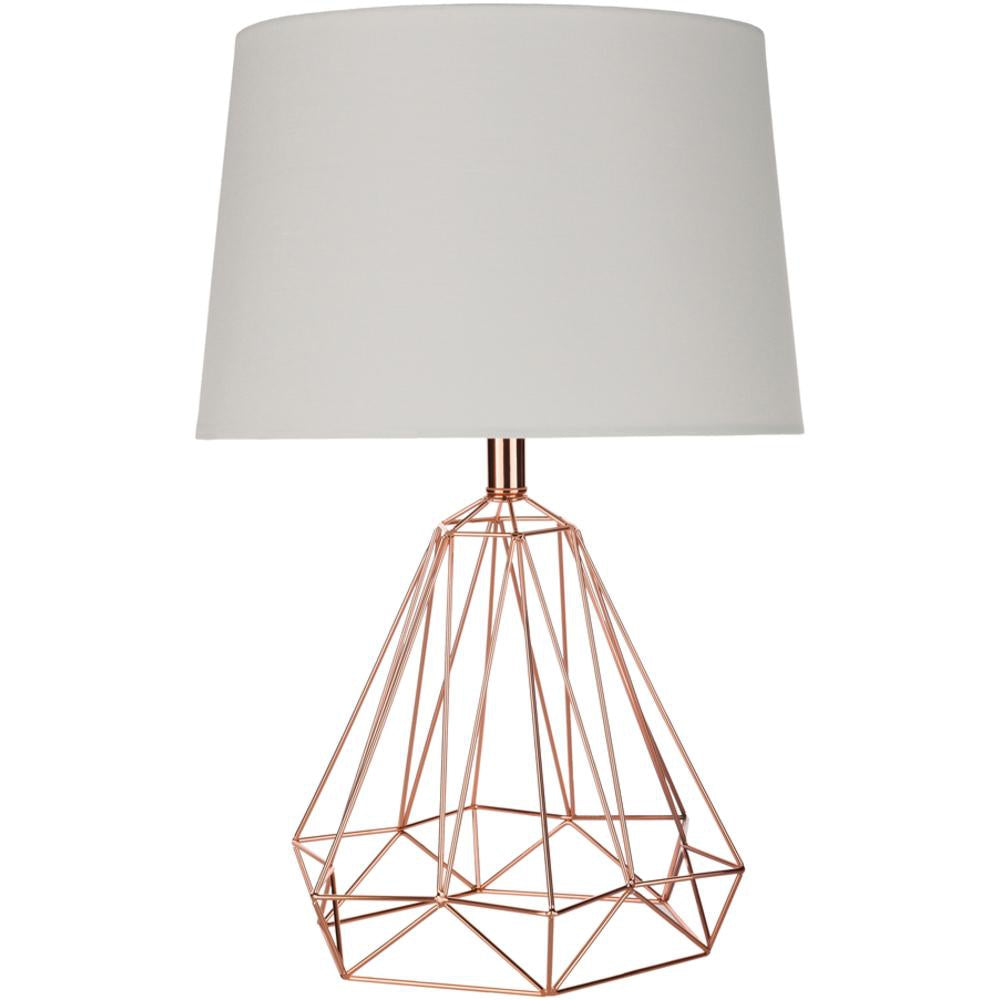 Steele Metal Caged Table Lamp-Home - Lighting - Table Lamps-SURYA-Brass-Peccadilly