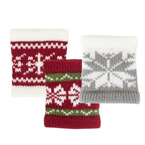Snug Sweater Drink Sleeve in Asstd Patterns-Home - Travel + Outdoors - Insulated Beverage Holders - Holiday-TRUE-Peccadilly