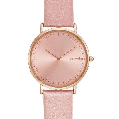 SoHo Leather Watch in Blush Pink & Rose Gold