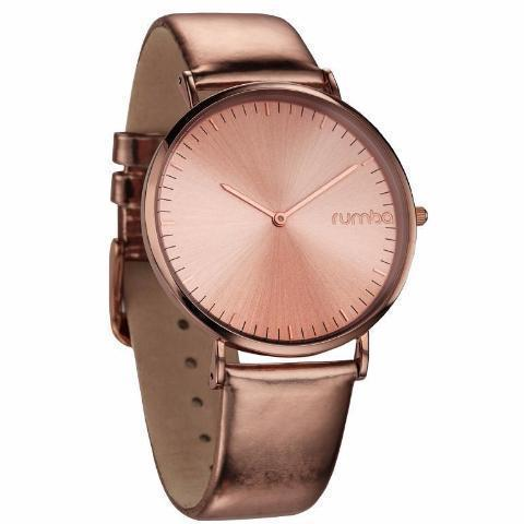 SoHo Metallic Genuine Leather Watch-Women - Accessories - Watches-RUMBATIME-Rose Gold-Peccadilly