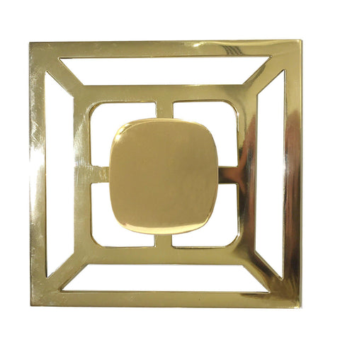 Solid Brass Benson Pull with Backplate