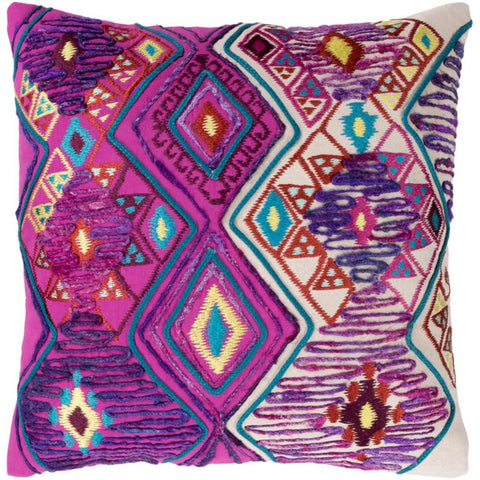 Splendid Hand-Embroidered Throw Pillow