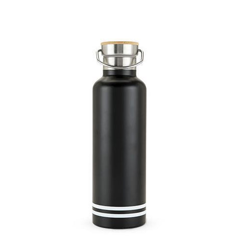 Stainless Steel Black Water Bottle 25oz Double Walled