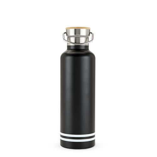 Stainless Steel Double Walled Adventure Water Bottle 25oz-Home - Travel + Outdoors - Drink Bottles-FOSTER AND RYE-Black-Peccadilly